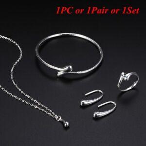 verlobung-frauen-ring-silber-traene-armband-oeffne-es-ohrringe-schmuck-set