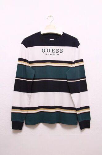 Guess Oversized Wesley Striped Men/'s Long SleeveT-shirt
