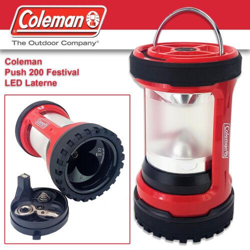 Coleman Push 200 Festival DEL Lanterne Camping Lampe DEL-Lampe Rouge Camping Lanterne