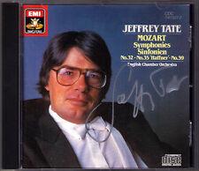 Jeffrey Tate firmato Mozart Symphony No. 32 35 Haffner 39 EMI CD 1985 sinfonie