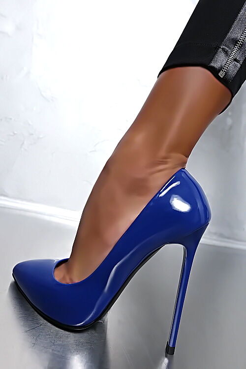 MADE IN HIGH ITALY CLASSIC LUXUS PIGALLE HIGH IN HEELS A75 PUMPS SCHUHE LEDER BLAU 41 79b247