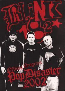 BLINK-182-2002-POP-DISASTER-TOUR-CONCERT-PROGRAM-BOOK-BOOKLET-NMT-2-MINT