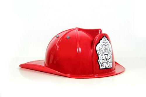 Kinder Feuerwehrhelm rot verstellbar 48-54 cm FIRE CHIEF Fasching Feuerwehr Helm