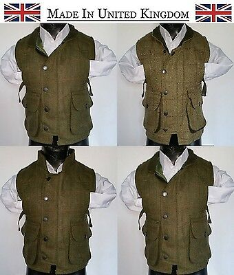 Kids Éirinn CountryWear Teflon Derby Tweed Hunting Shooting Waistcoat Bodywarmer