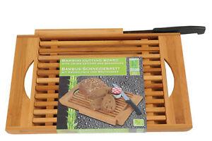 Schneidebrett-mit-Brotmesser-Bambus-Auffangschale-Holzbrett-Brot-Schneidbrett
