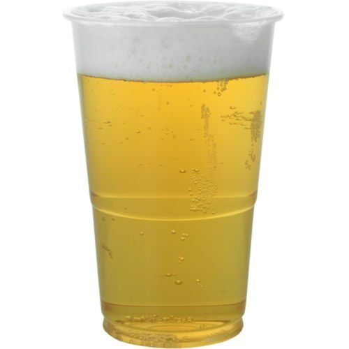 500 500 500 x Pint & 500 x Half Pint Clear Strong Plastic Beer Cups Glasses Disposable 803be2