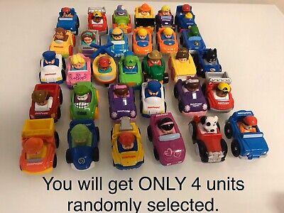 Fisher-Price Little People Wheelies Vehicles Blind Bundle Lot Of 4 Random Cars