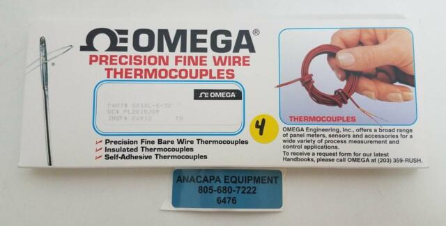 1pc OMEGA K Type Precision Fine Wire Thermocouple Sa1xl-k-72 .010 Dia on