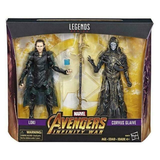 Nouveau Marvel Legends Series Avengers Infinity guerre Loki /& Corvus Glaive en main