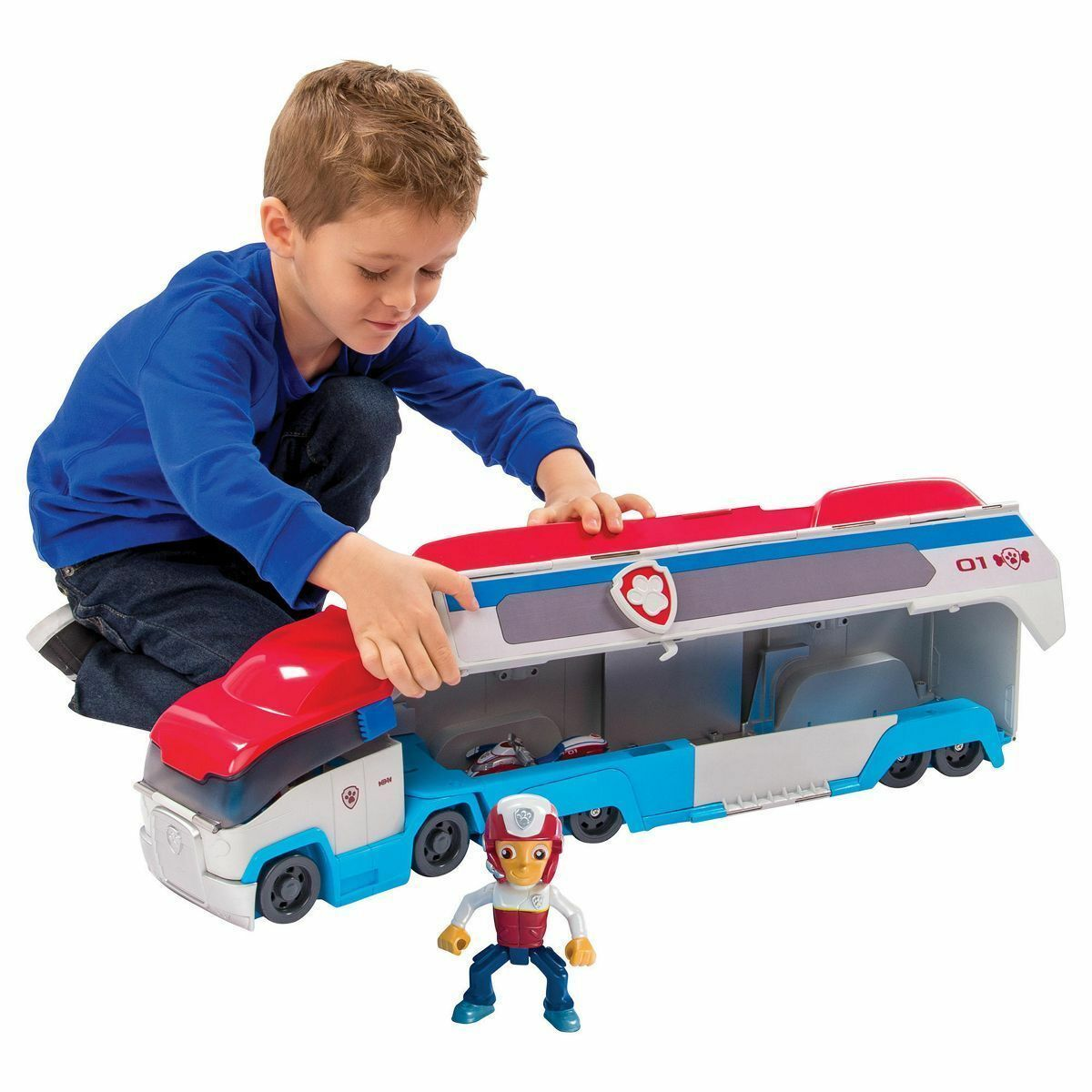 Paw Patrol Paw Patroller Rescue Transporter Vehicle Interactive  Ages 3 Years+