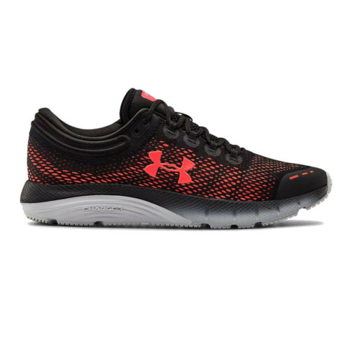 Black Red Under Armour Mens Charged Bandit 5 Running Shoes Trainers Sneakers