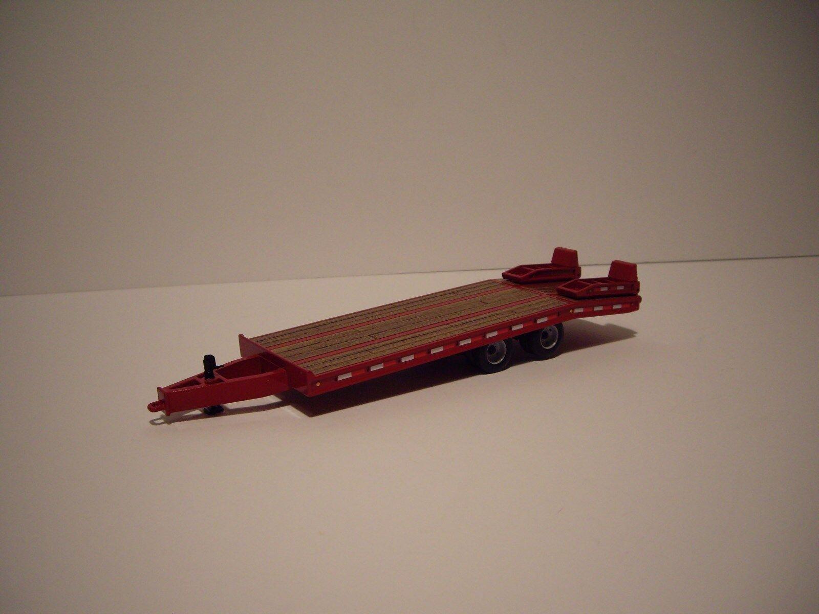 First Gear 1 50 rojo teja teja teja plana Remolque de eje tándem ca1c28