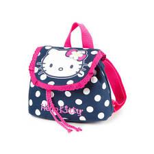 Hello Kitty Mini Backpack Navy and Pink Polka Dot Bookbag Sanrio NWT