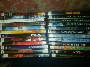 LOTE PACK DE 24 PELICULAS DVD por 1 euro/unidad !!!