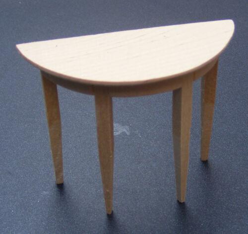 Échelle 1:12 finition naturelle Demi Lune Paroi Latérale Table tumdee maison de poupées Hall 090