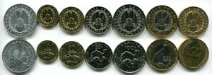DJIBOUTI-SET-7-COIN-5-10-20-50-100-250-500-FRANCS-1991-2013-UNC