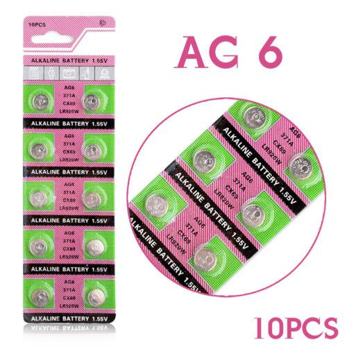 AG6 LR920 LR921 SR69 V371 Knopfzelle Uhrenbatterie Batterien 1.55V 10 Stücke C7