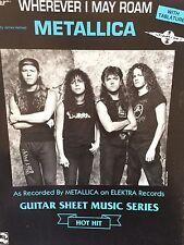 Metallica - Wherever I May Roam - Guitar Sheet Music Series