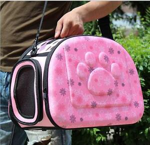 Portable Small Cat Dog Pet Sided Kennel Carrier Travel Shoulder Cage Bag