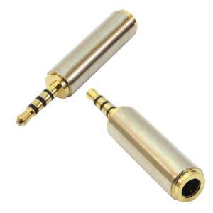 Adattatore-audio-jack-aux-2-5mm-maschio-3-5mm-femmina-stereo-convertitore-cuffie