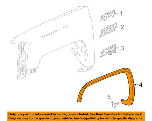 GMC GM OEM EXTERIOR TRIM-FENDER-Wheel Opening Molding Left 22775550