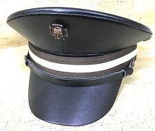 SDL Steampunk Cappello Militare con Teschio In Rame Con Marrone Band nel 57,58,59 cm