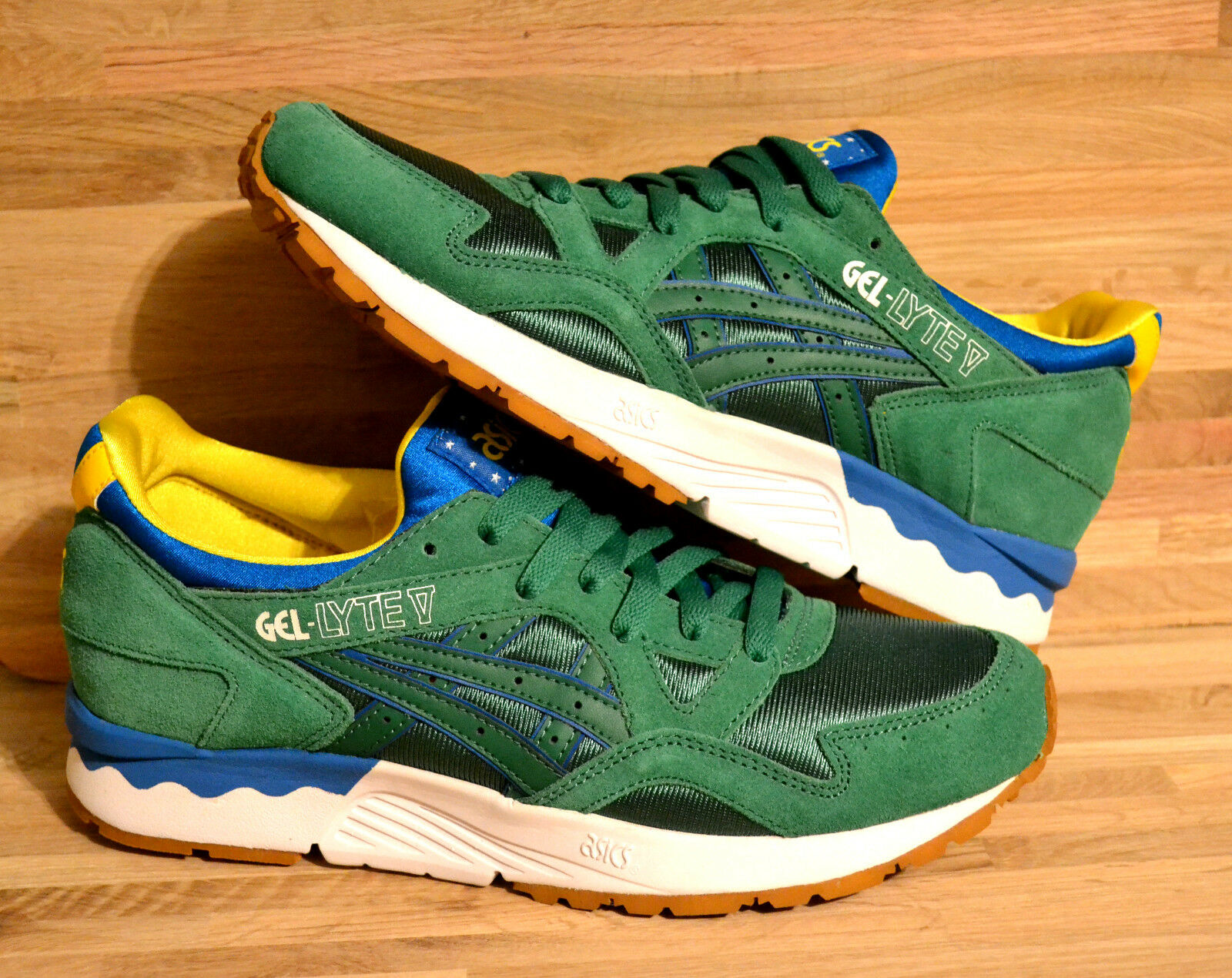 AUTHENTIC ASICS GEL LYTE V BRAZIL WORLD CUP TRIBUTE SNEAKER CONCEPTS, FEIG, KITH