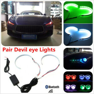RGB Demon Eye Halo Ring LED Wireless Remote Light for Car Headlight Projector