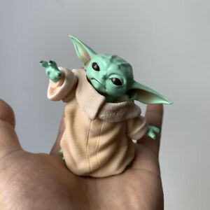 8CM Baby Yoda Mini Action Figure Collection Toy PVC Miniature Doll Cake Topper