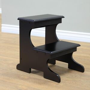 New Frenchi Home Furnishing 2 Step Stool Black Color