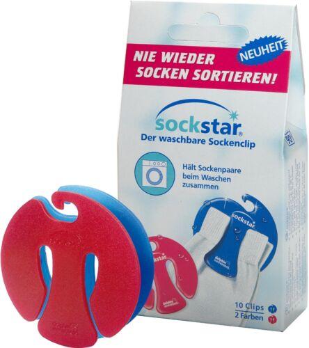 Sockstar Chaussettes parenthèses Chaussettes clips Basic Line 10er-pack pour 5 en 2 couleurs