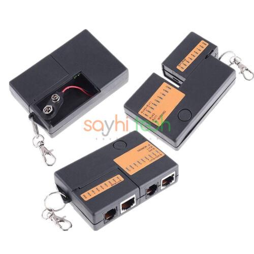 Super Professional RJ45 RJ11 Cat5e Cat6 Network Lan Cable Tester Test Box Tools