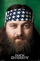 Duck Dynasty Willie Robertson Flag Bandana 22x34 Poster Tv Beard American Usa