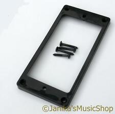 GUITAR BLACK BRIDGE HUMBUCKER PICKUP SURROUND RING+SCREWS FLAT BACK SLOPING RING