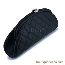 c7f82042835d Authentic CHANEL Timeless Caviar Quilted Satin Black Clutch for sale ...