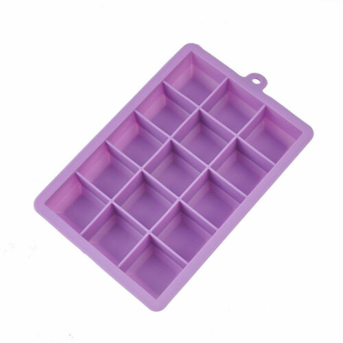 New 15 Grids Silicone Ice Cube Tray Large Mould Mold Giant Maker Tools 3 x3 x3cm