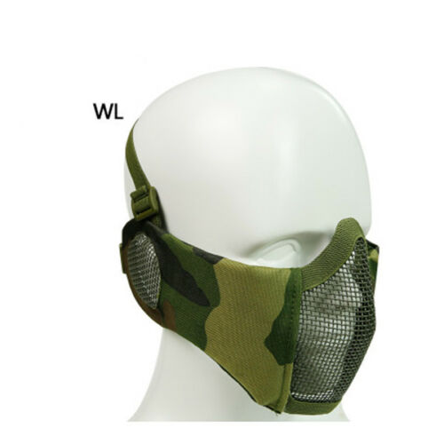 Outdoor Mask Half Lower Face Metal Steel Net Cycling Tactical Steel Mask