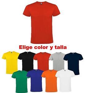 Camiseta-blanca-color-100-algodon-lisas-Roly-hombre-adulto-nino