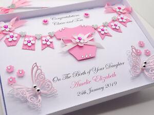 Personalised Baby Girl 1st Birthday Card