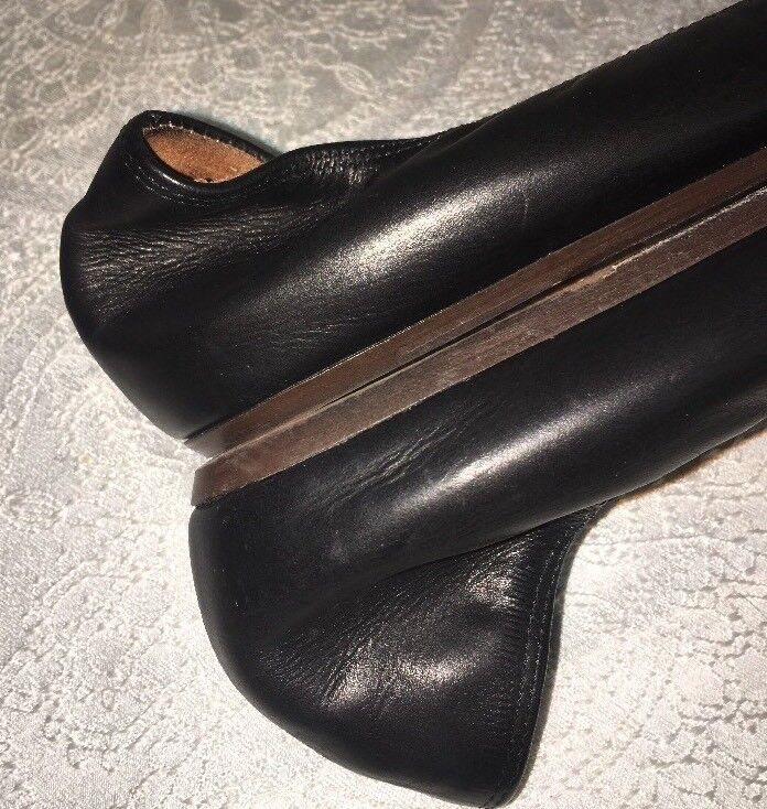 Lanvin shoes Black Leather Snakeskin Toe Ballerina Flat Size Size Size 40 072dea
