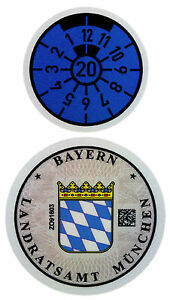 Munich 2020 German License Plate Registration Seal for BMW by Z Plates