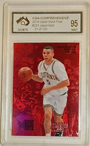 2014-Upper-Deck-Fleer-Retro-Jason-Kidd-Card-Graded-Mint