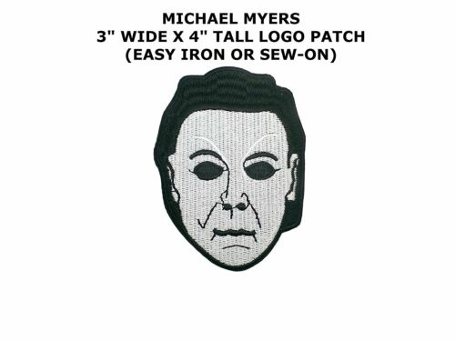 """Halloween Michael Myers Mask Iron Patch 4/"""" x 3/"""" Free Shipping by Envelope Mail"""