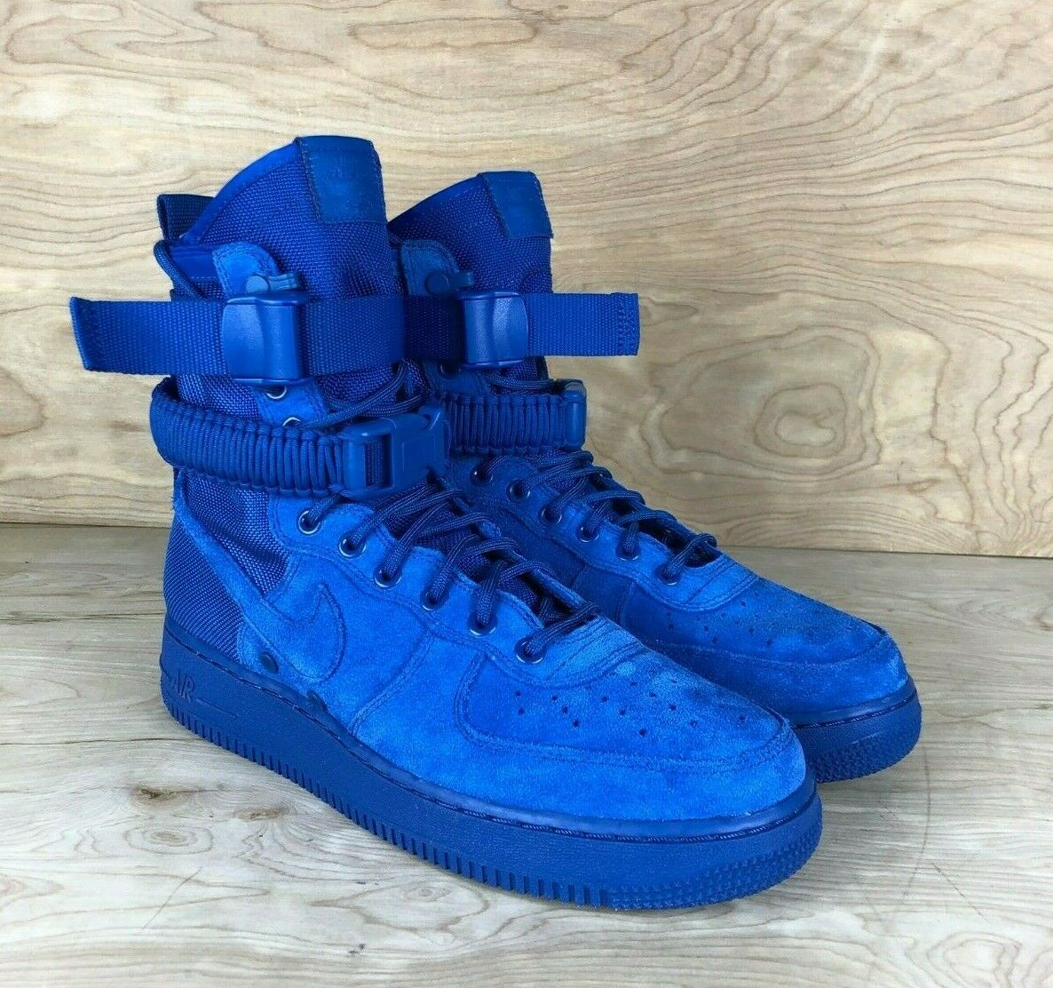 MEN'S Nike SF AF1 Royal blueee suede Athletic Sneakers 864024 401 boots Multi Size