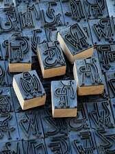 Jugendstil Wäschestempel shabby Monogramm Schablone Textilstempel Stoffdruck