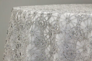 5-Yards-Sequin-Studded-Chemical-Lace-Embroidery-Fabric-Table-Runner-Overlay-Sash