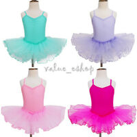 Girls Kid Princess Sleeveless Ballet Party Tutu Dress Leotard Dancewear Costume