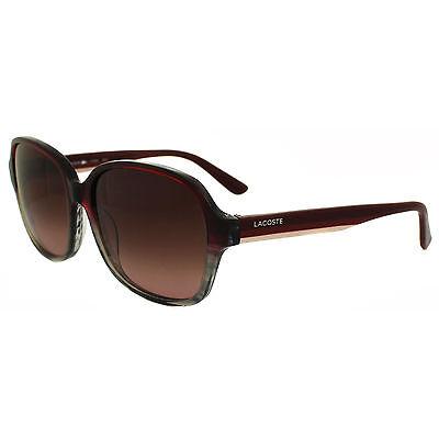 Lacoste Sunglasses L735S 615 Burgundy & Grey Striped Mahogany Gradient