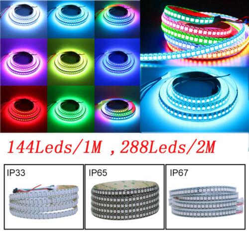 WS2812B 5050 RGB LED Strip 5M 150 300 Leds 144 60LED//M Individual Addressable 5V