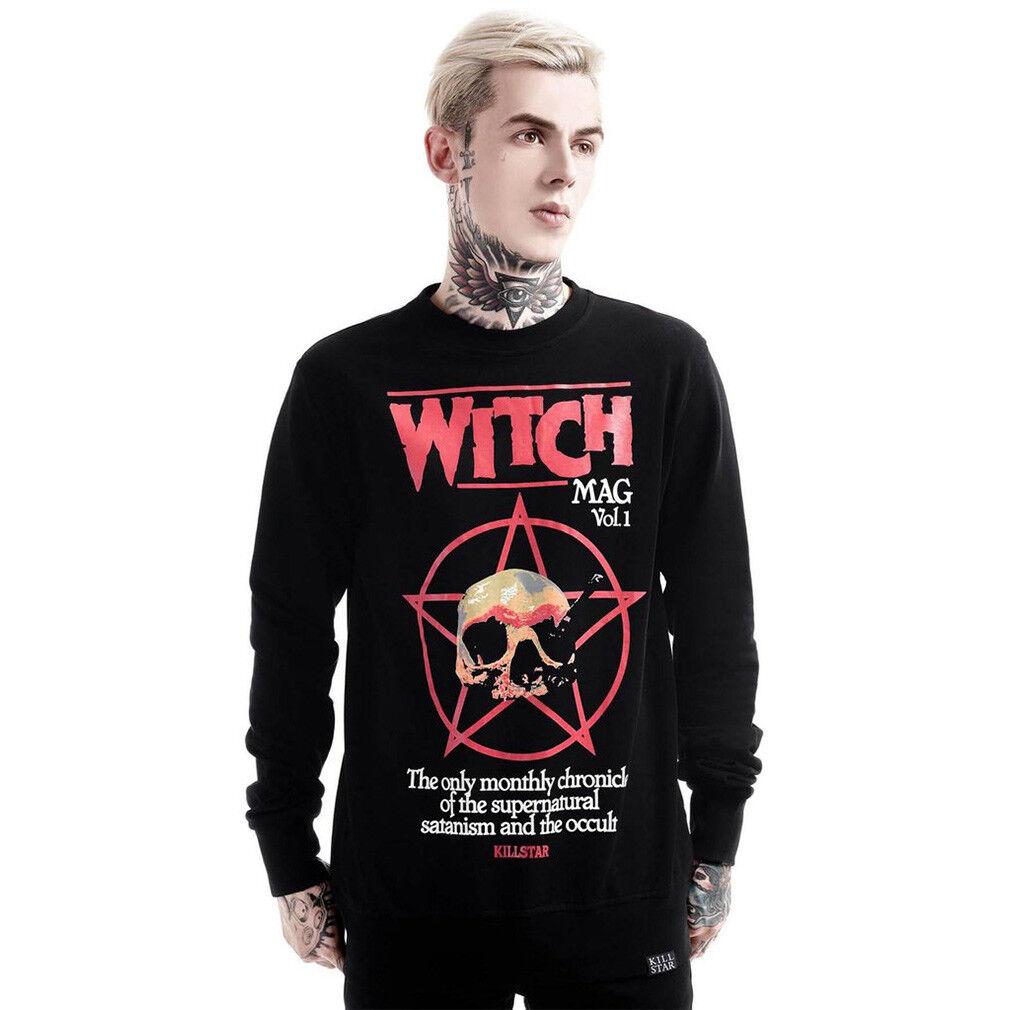 Killstar Gothic Goth Okkult Wiccan Pullover Sweatshirt Pulli - Nostalgia Schädel